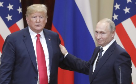 US President Donald Trump and Russia's President Vladimir Putin following talks in Finland in July. Photo: Abaca Press