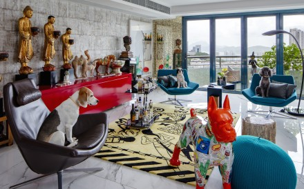 After locking it away for years, a Briton decided to use his new Pok Fu Lam duplex as a blank canvas for his bold assemblage of art