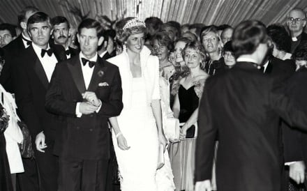 The Prince and Princess of Wales at the opening of the Hong Kong Cultural Centre in 1989. Picture: SCMP