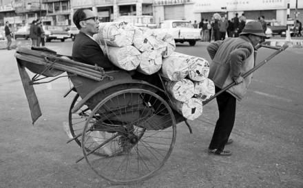 A rickshaw in Hong Kong circa 1971. Picture: SCMP