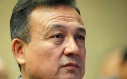Dolkun Isa, president of the World Uygur Congress at an activist forum on China held in Geneva, Switzerland, on Friday. Photo: Reuters