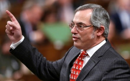 Canadian Conservative legislator Tony Clement pictured in the House of Commons in Ottawa in 2014. Photo: Reuters