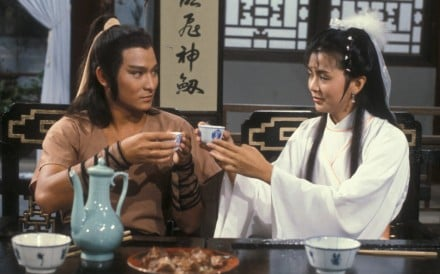 "Andy Lau as Yang Guo and Idy Chan as the ""little dragon maiden"" in TVB's adaptation of Louis Cha's The Return of the Condor Heroes."
