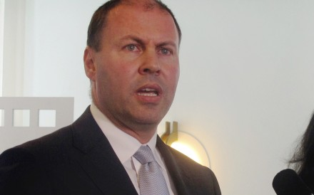 Australia's Treasurer Josh Frydenberg lashed out at Malaysia's PM for past anti-Semitic comments, amid Australia's possible relocation of its Israeli embassy to Jerusalem. Photo: AP