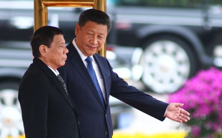 Xi Jinping and Rodrigo Duterte pictured in Beijing in October 2016. Photo: Simon Song