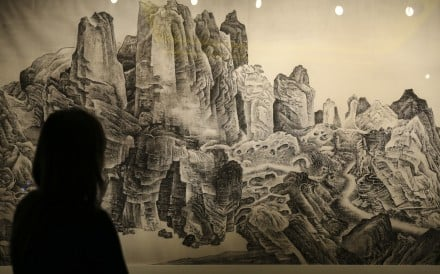 China Institute's Blue Cloud Gala honorees this year include artist Liu Dan, the creator of works such as this contemporary ink painting, 'Airy Mountains, Rushy Glens after Li Tang'. Photo: Dickson Lee