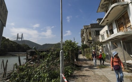 The Ma Wan fishing village, abandoned but left undeveloped for two decades. Photo: Edward Wong