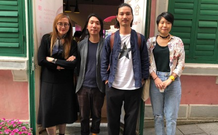 From left: Rita Wong, Penny Lam, Mike Ao Ieong and Peeko Wong, all filmmakers in Macau.