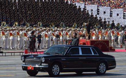 China's President Xi Jinping begins a review of troops during a 2015 military parade marking the 70th anniversary of Japan's defeat in the second world war. Photo: AFP