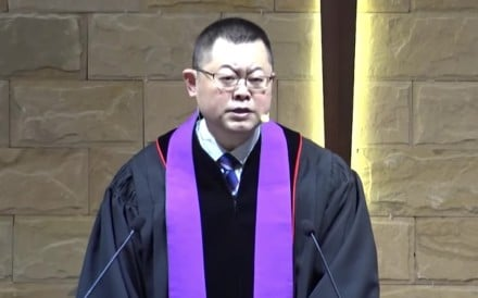 Pastor Wang Yi of the Early Rain Covenant Church in Chengdu has been detained and accused of inciting subversion of state power, his mother said. Photo: Facebook