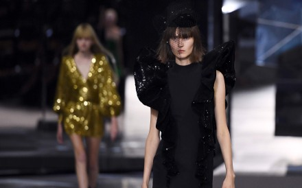 Celine channels youthful vibes with its spring/summer 2019 ready-to-wear collection, under new creative director Hedi Slimane. Photo: AFP