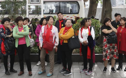 Tourists in To Kwa Wan. Photo: Nora Tam
