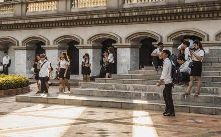 Students at Assumption University Bangna Campus, Thailand. Photo: Alamy