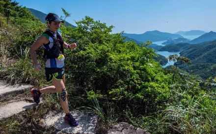 Marie McNaughton running to victory at the HK50. Photos: Action Asia Events