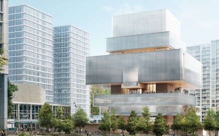 Artist's impression of the new Vancouver Art Gallery designed by Herzog & de Meuron.
