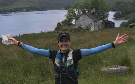 Nikki Han on the West Highland Way in Scotland. 100 miler races in brutal weather has built her mental strength for the HK4TUC. Photo: Handout