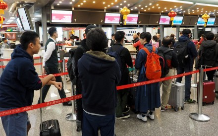 Businesspeople and holidaymakers were left stranded at Taiwan's airports on Friday as pilots from China Airlines went on strike. Photo: EPA-EFE