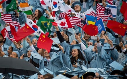 Chinese students make up about 30 per cent of America's international student population. Photo: Xinhua