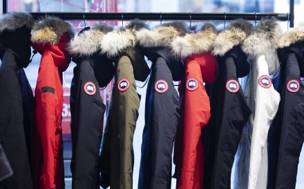 Parkas on display at a Canada Goose store. Photo: Bloomberg