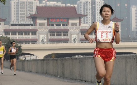 Leung Ying-suet runs the 2008 Perskindol Sha Tin 10km. She has since focused on trail running, but this weekend is back on the road. Photo: Richard Castka/Sportpix International