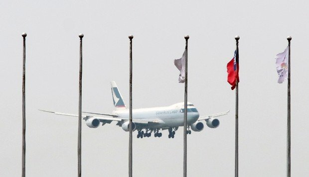 Woman flies from Taiwan to Hong Kong on Cathay Pacific