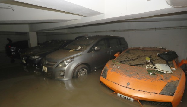 Lamborghini And 20 Other Vehicles Found Covered In Mud