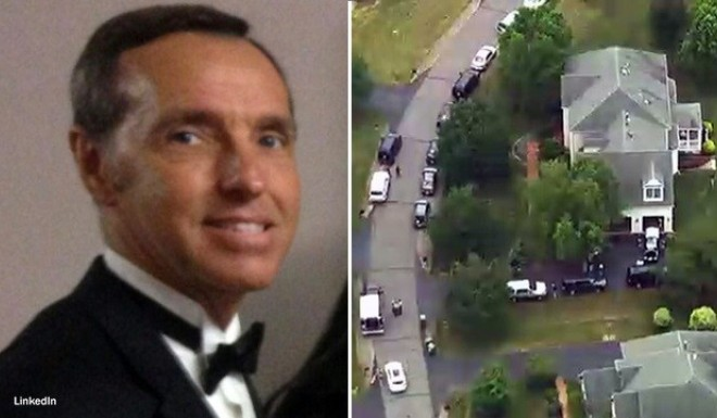 FBI agents searched Kevin Mallory's home in Virginia in June 2017.