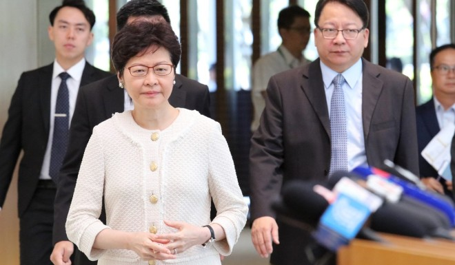 Chief Executive Carrie Lam took the unusual step of denying the extradition request.