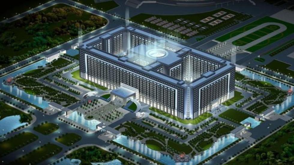 shandong city builds massive pentagon size headquarters for 4b