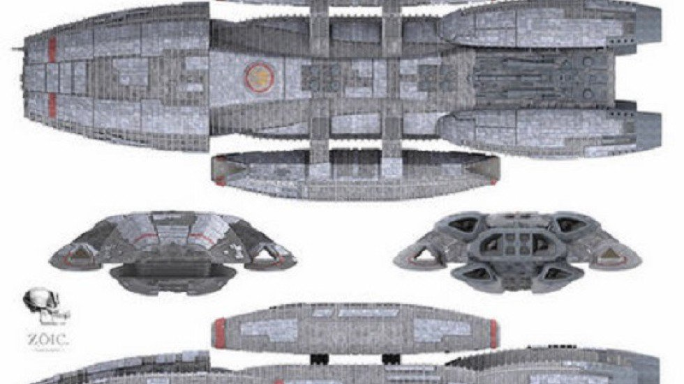 They Are Actually Spaceship Designs Used In The US Television Programme Battlestar Galactica Photo Screenshot Via Chinaorgcn