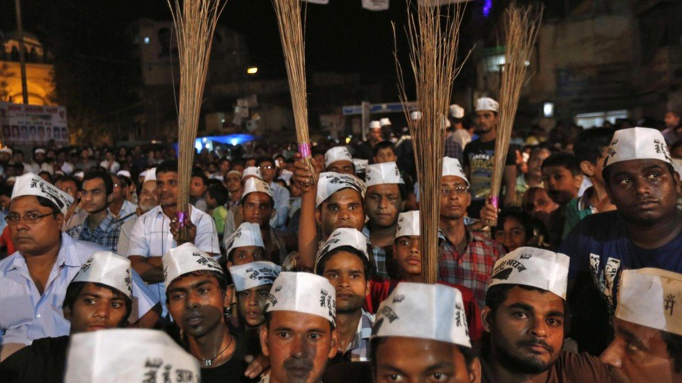 Aam Aadmi Party Vows To Clean Up Indias Corrupt Political Scene