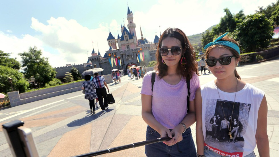 hong kong disneyland bans use of selfie sticks for safety reasons south china morning post. Black Bedroom Furniture Sets. Home Design Ideas