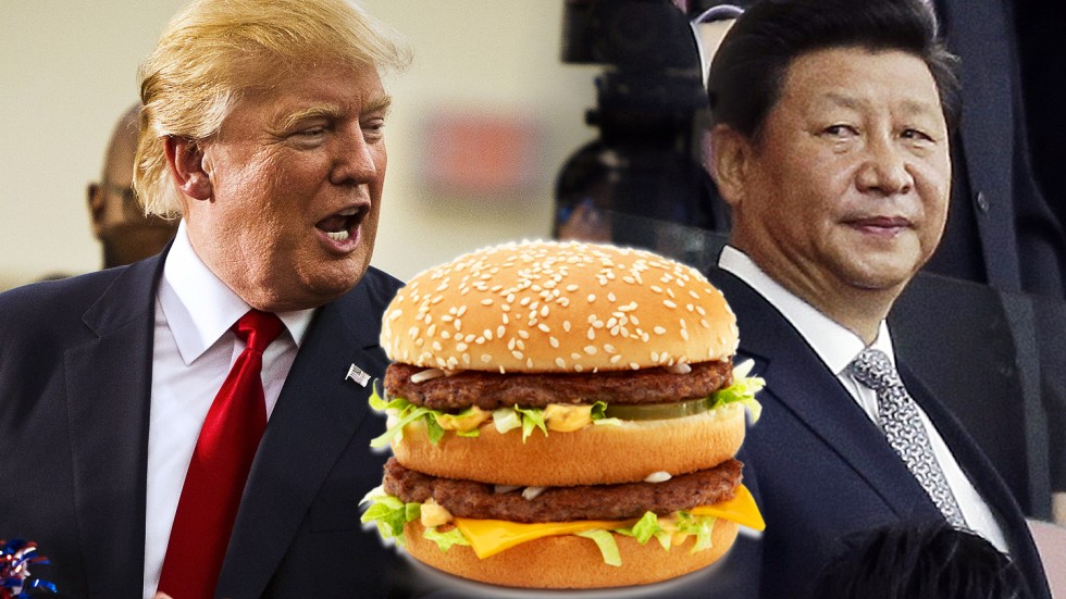 Image result for funny trump eating south korea