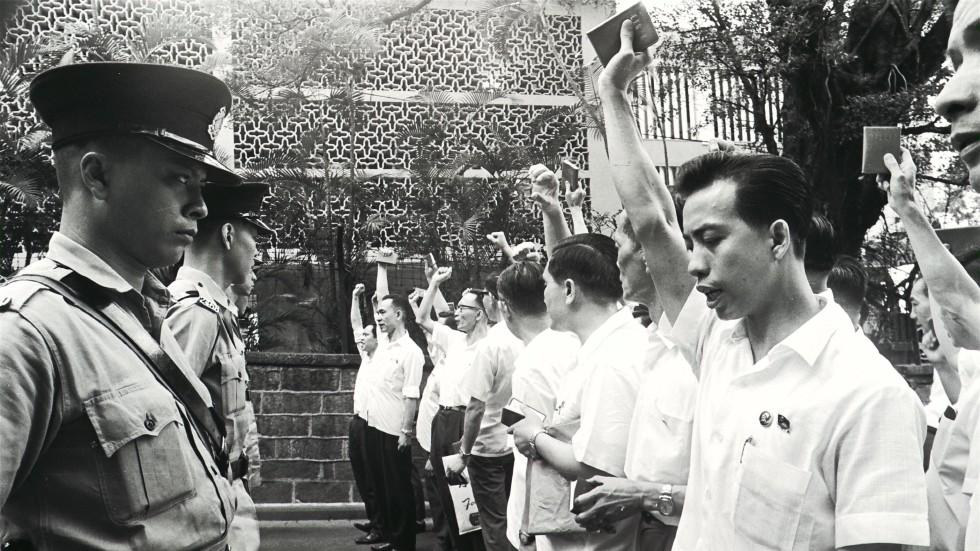 news hong kong politics article beijing official authority make remarks political