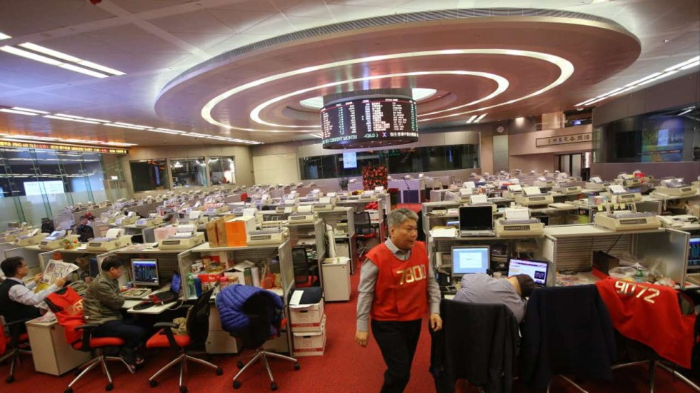 Traders On The Hong Kong Stock Exchange Trading Floor Photo SCMP Pictures