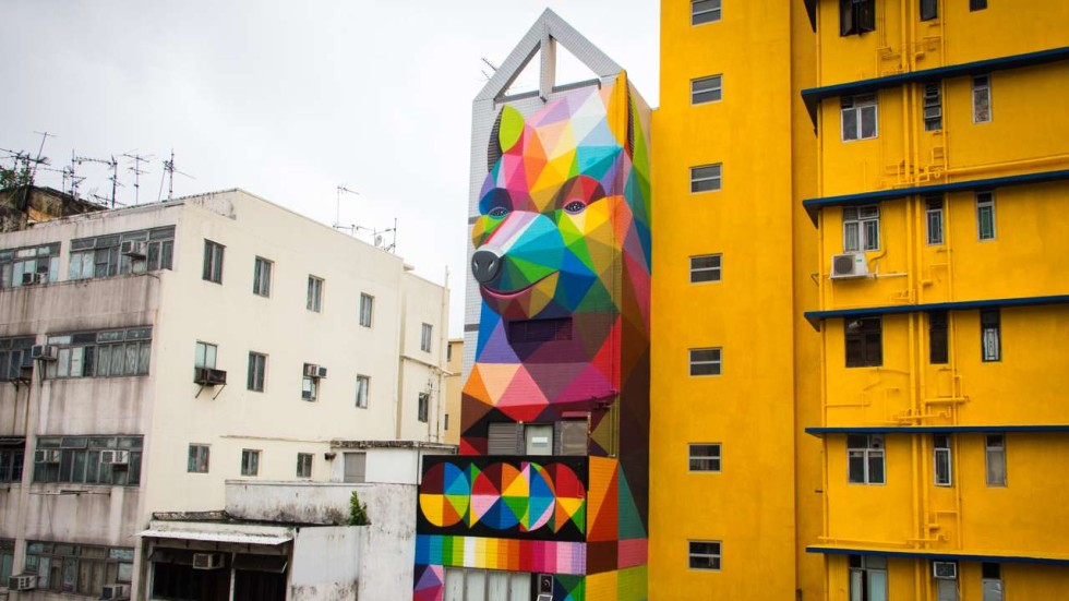 WATCH Street Artists Transform One Of Hong Kongs Oldest - Spanish street artist transforms building facades into amazing artworks
