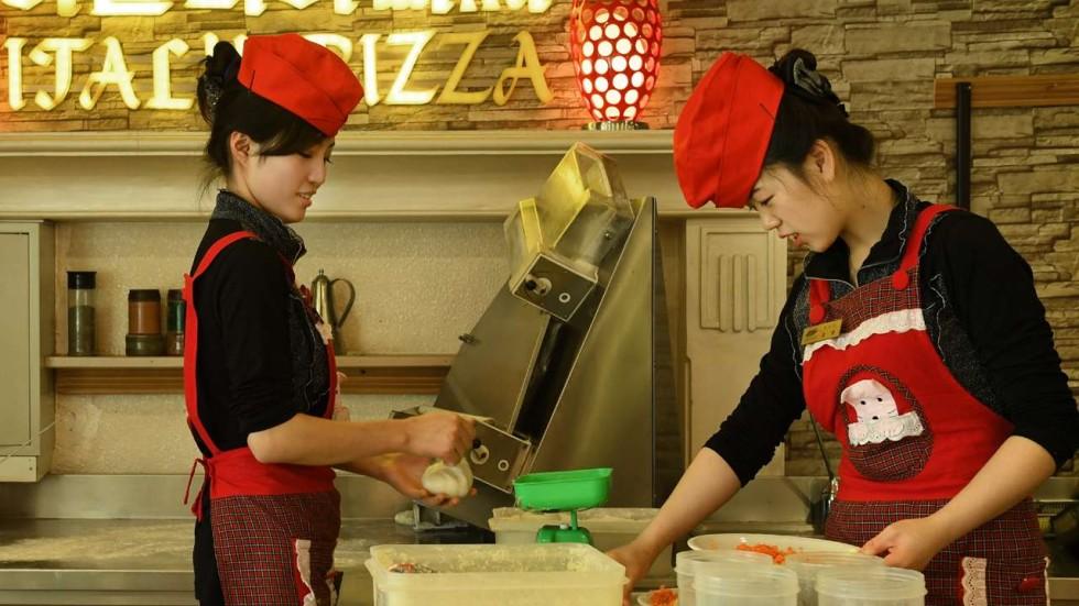 Summer dress korean style pizza