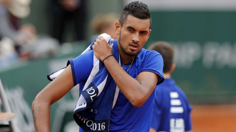 Towelled: Bad boy Nick Kyrgios in hot water again for shouting at ...