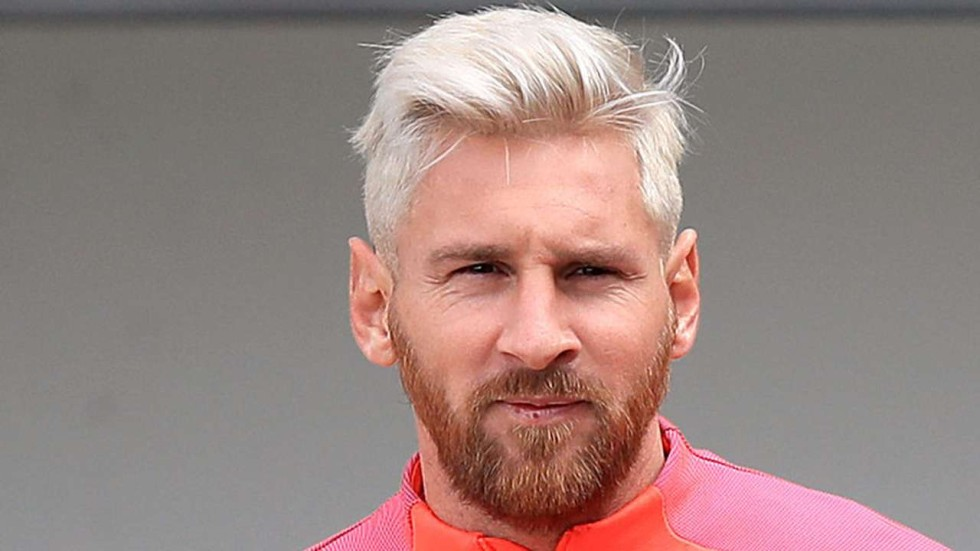Gentlemen Prefer Blond Lionel Messi Follows Trend And
