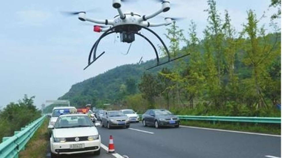 Chinas Traffic Police Drones Over Mid Autumn Festival Ensure Skys