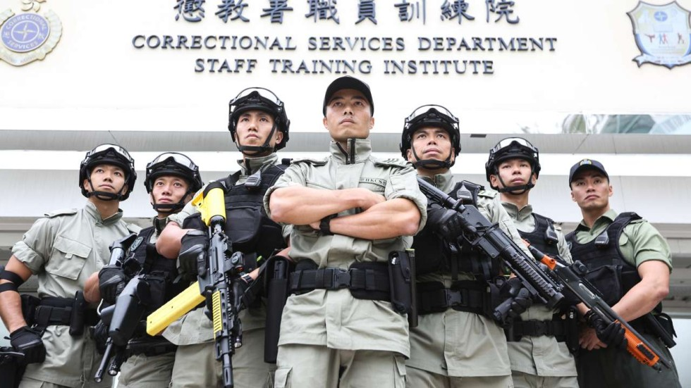 Hong Kong Prison Officers Go Through Tough Training Regime To Join
