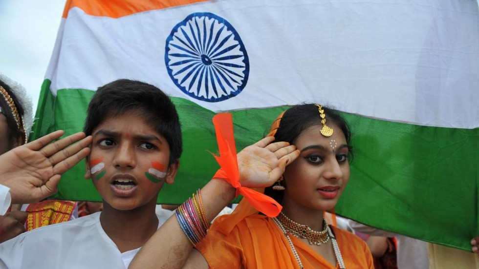 Image result for india national anthem playing in school