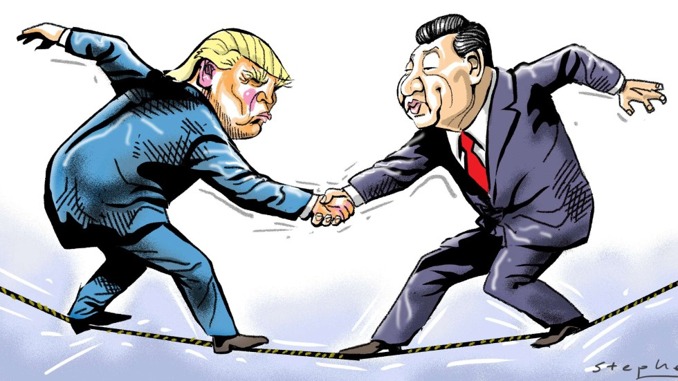 Image result for china Vs. trump cartoon