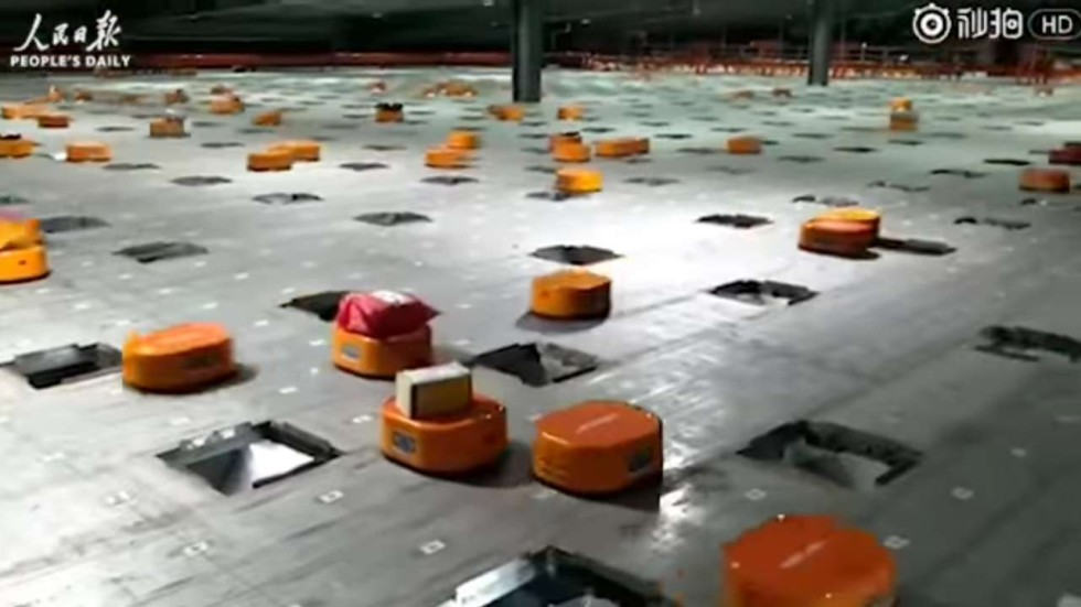 Image result for alibaba sorting robots