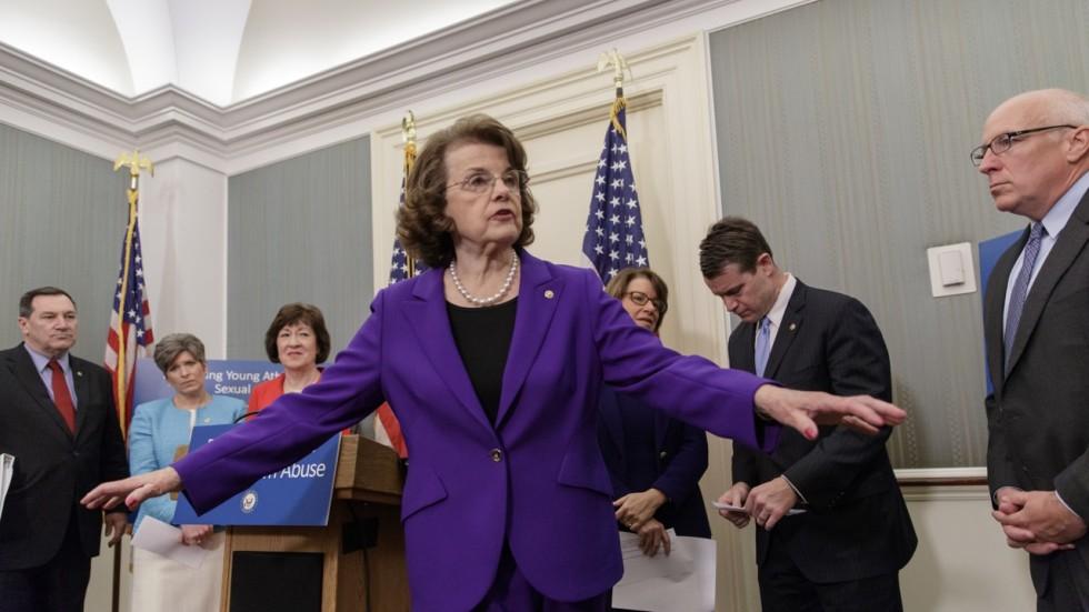 Veteran US senator Dianne Feinstein is turning 84, and ...