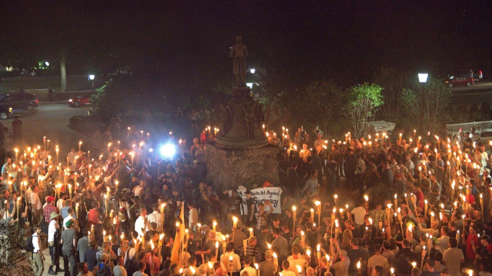 Image result for charlottesville march torches