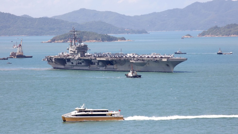China urges caution on North Korea as US supercarrier makes Hong