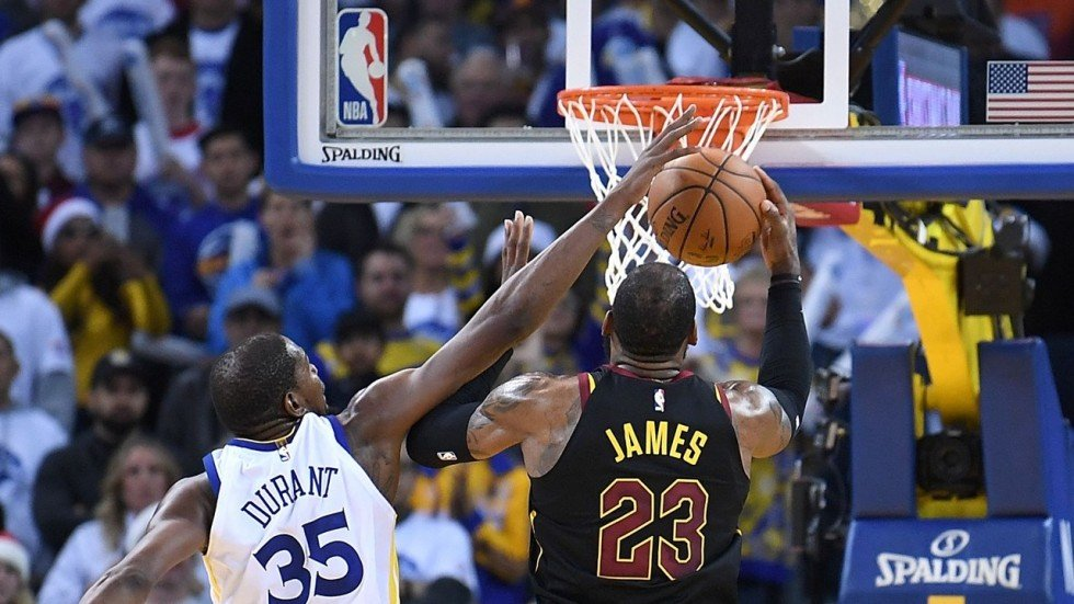 Foul or no foul on LeBron James, Kevin Durant is becoming as scary on defence as he is on ...