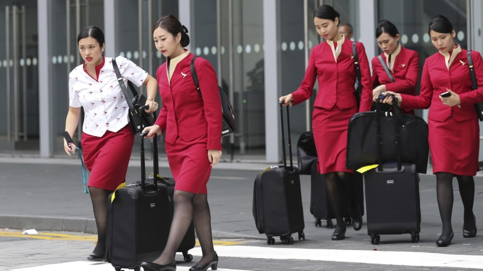 Almost 3 000 Female Cabin Crew In Cathay Pacific And