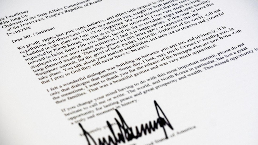 Dear Mr Chairman Here Is The Full Text Of The Letter Trump Sent